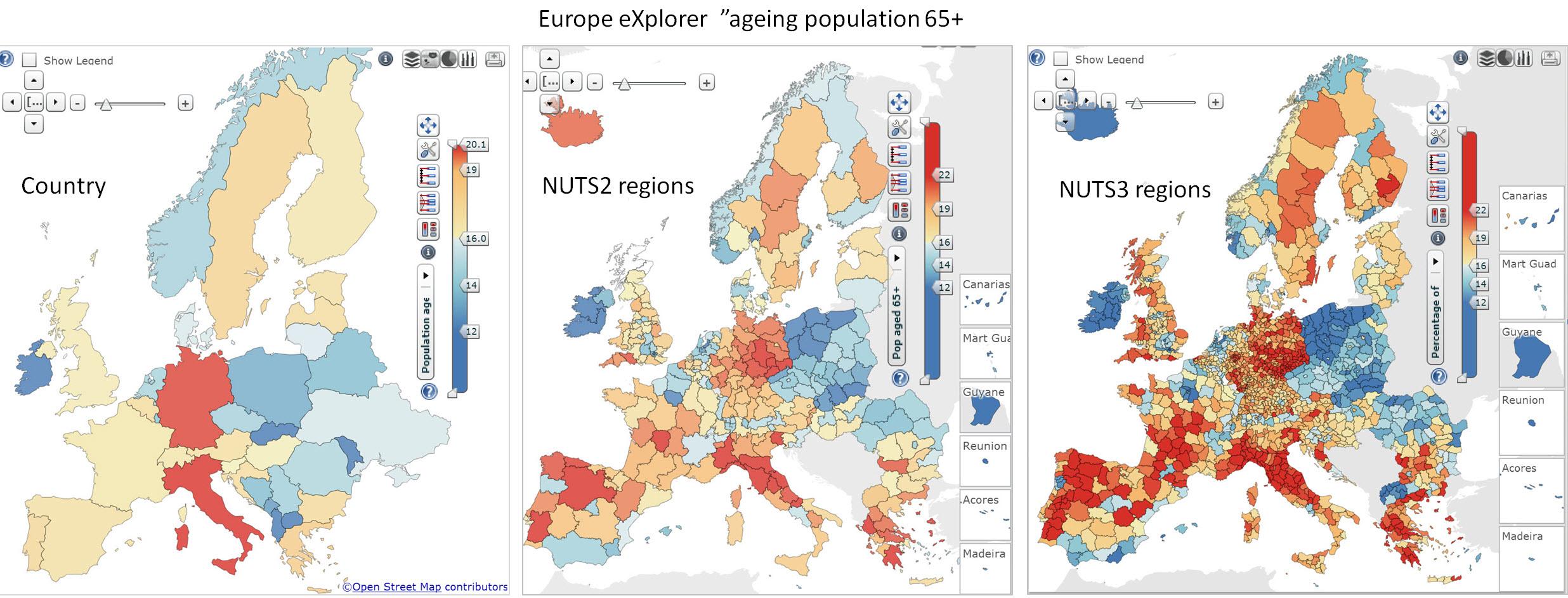 Europe eXpl 3 maps