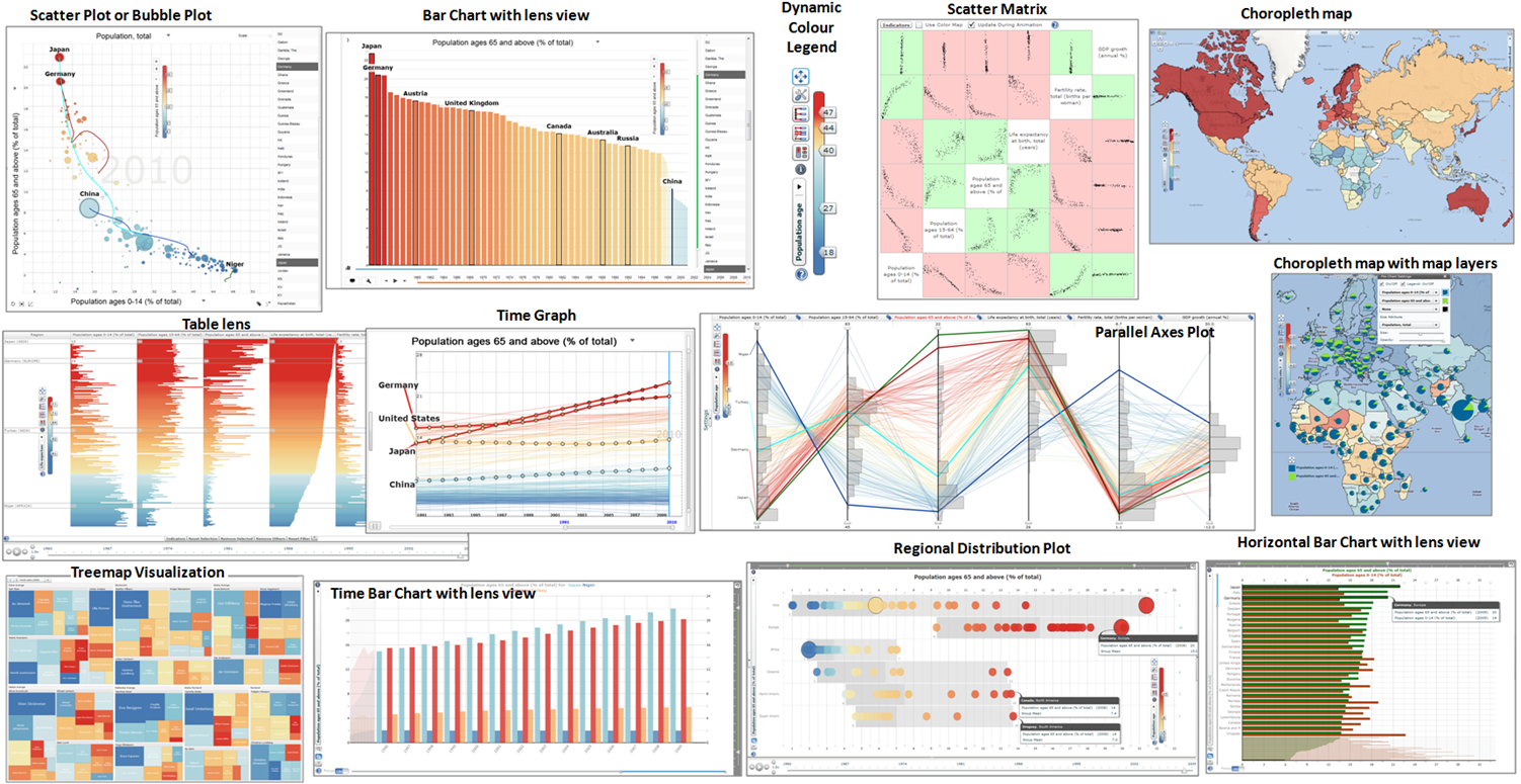 Statistical eXplorer Visualizations
